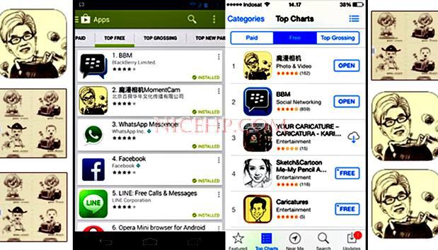 MomentCam, Aplikasi Edit Foto Karikatur Android